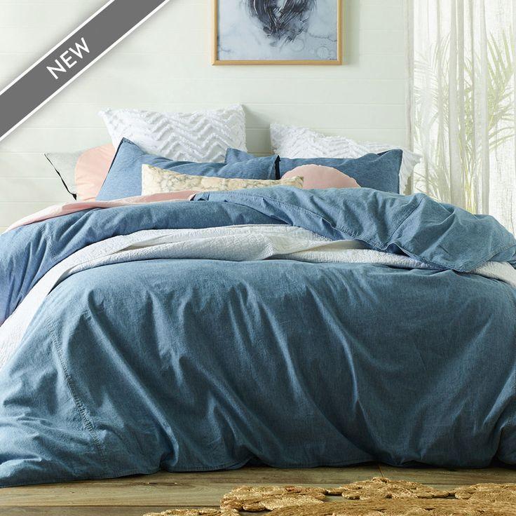 Stonewashed Denim Linen Cotton Quilt Cover Set | More Sizes Available by Linen Dreams on THEHOME.COM.AU