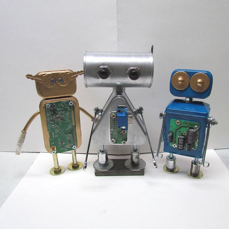 Found objects robot sculptures  I have many more unique robots for sale at;  https://www.etsy.com/shop/VINTAGEandMOREshop #robot #robots #robotsculpture #foundobjectrobots #foundobjectart #assemblage #artsculpture #handmade #uniquegifts #oneofakind
