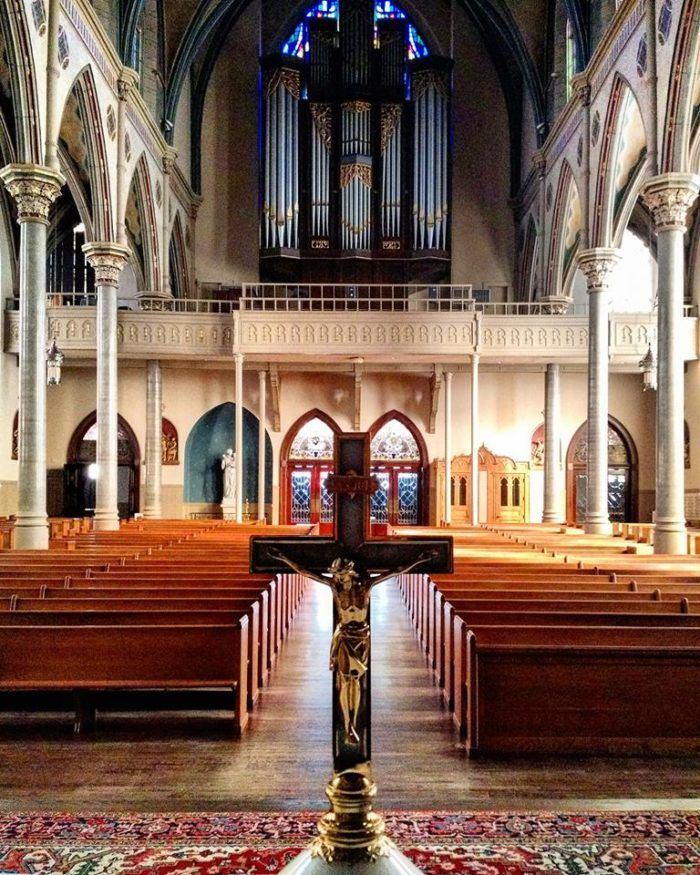 Cathedral of St. Paul... The view from the church's altar is as wonderful as the view from the pews. The original church was built in 1872, and the current cathedral was completed in 1893. The Cathedral of Saint Paul was added to the National Register of Historic Places in 1982.