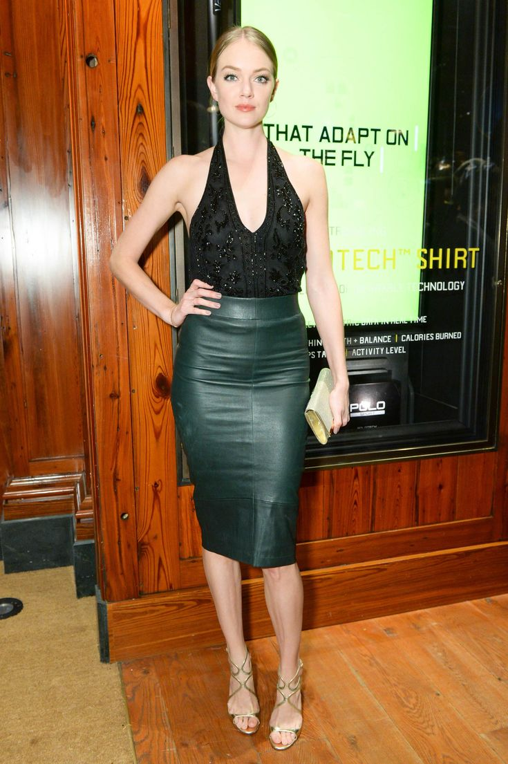 Lindsay Ellingson arrives at Polo Ralph Lauren event