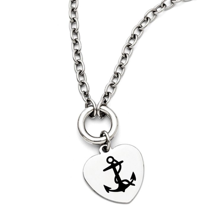 Delta Gamma Symbol Stainless Steel Heart Necklace With Free Shipping