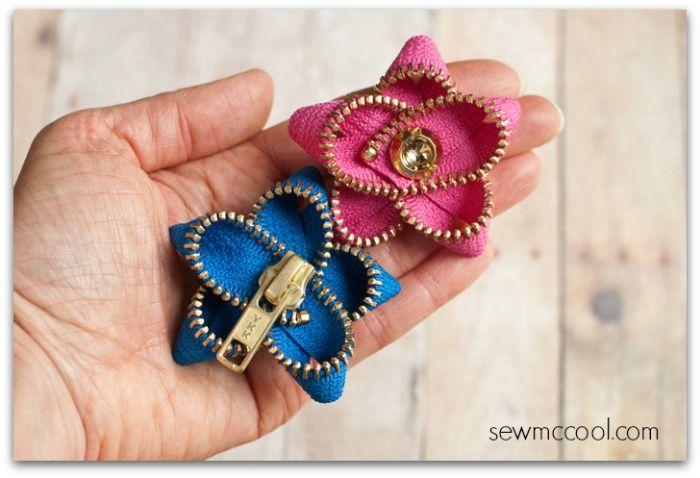 DIY: zipper flowers