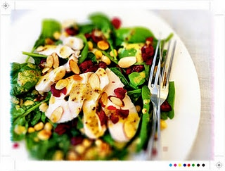 Smoked Chicken Salad with Cranberries and Almonds
