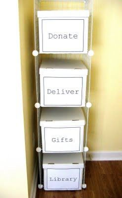 """Great idea for the garage ... DIY Storage for """"Transient"""" Items. keeps"""