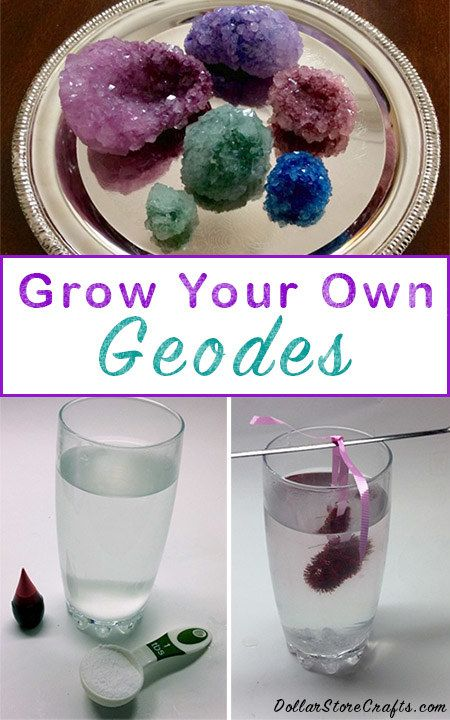 Grow wonderfully colorful crystals right at home. | 26 Super-Cool DIY Projects That Will Blow Your Kids' Minds