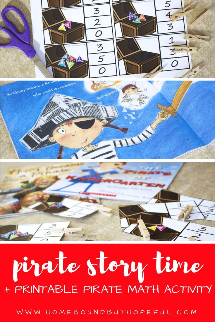 Pirate Story Time | Pirate Math Activity | Early Learning | Free Printable | Reading Extension | Pirate Read A Loud | Pirate Fun Round Up | Pirate Picture Books