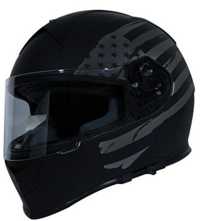 TORC T14 Mako Flag Full Face Helmet Flat Black
