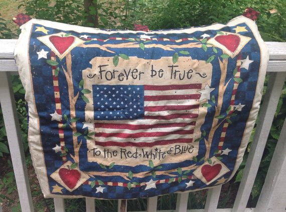 Patriotic lap quilt patriotic quilted wall by BoissonneaultStyle