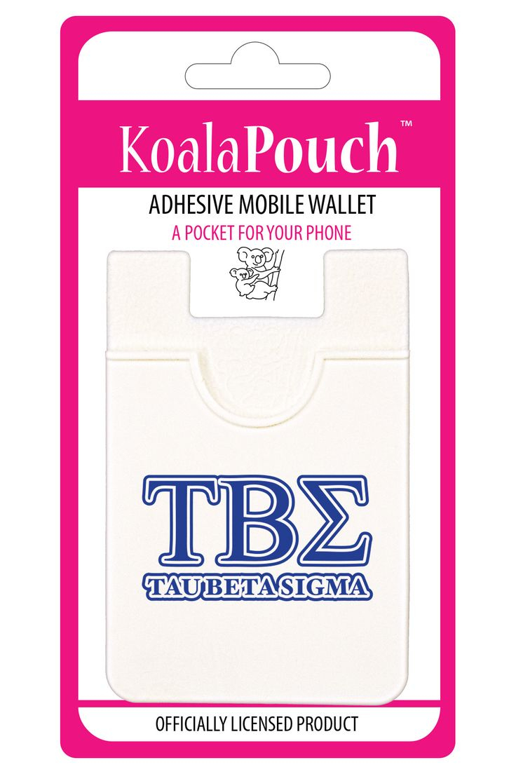 Tau Beta Sigma Koala Pouch Adhesive wallet for your phone