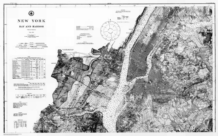 New York Bay and Harbor 1910