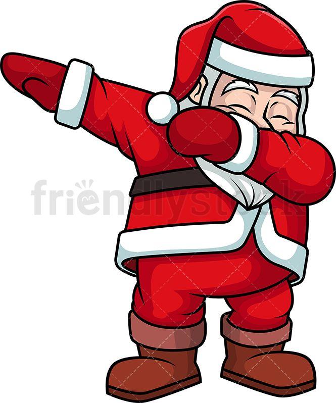 e70eab705c2 Dabbing Santa Claus  Royalty-free stock vector illustration of Santa Claus  swinging his arms and closing his eyes to do the dab dancing move.