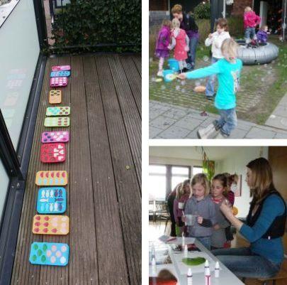 Allerlei ideeën voor een creatief kinderfeestje thuis.