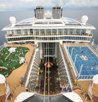 Oasis of the Sea cabin 12720 starboard outer balcony eastern route 10/6/12.  Spent most time adult solarium or Schooner bar