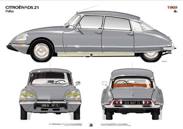 Citroen DS - One of the world's most unusual, yet appealing cars. A friend had one in the 70's and 80's. So exotic, but comfortable.