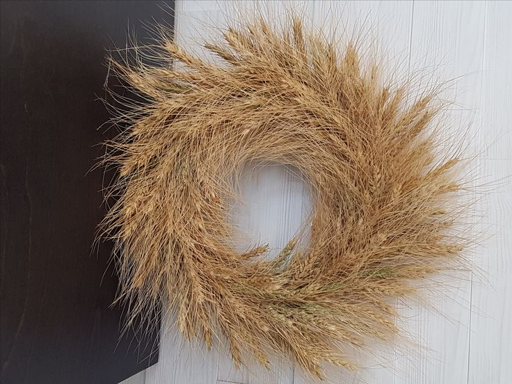 Wheat Wreath  #goldenforrest #goldenforrestcreations #handmade #wreathideas #frontdoordecor #wheat #countrydecor #country #rustic #wreath