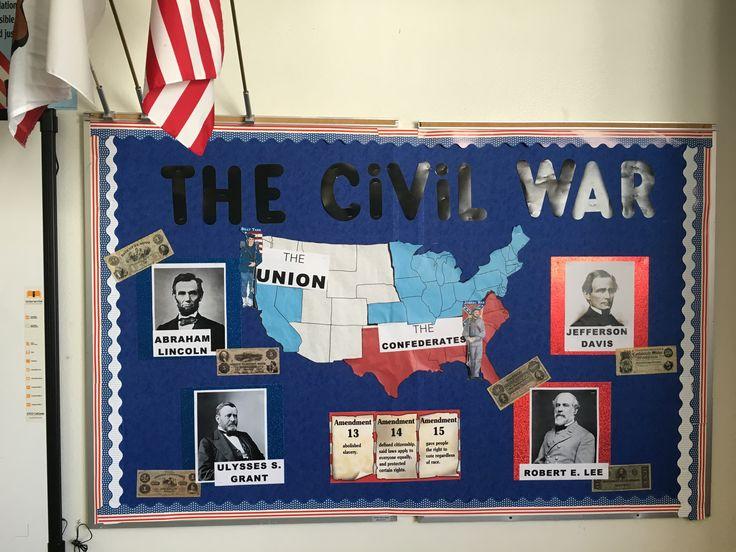 Junior Classroom Ideas ~ Civil war bulletin board junior high history th grade