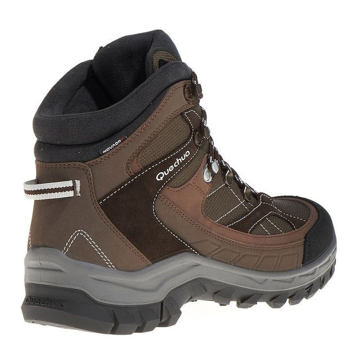 Hiking shoes Shoes - Forclaz 100 High Men's Waterproof Walking Boots - Brown Quechua - Sports