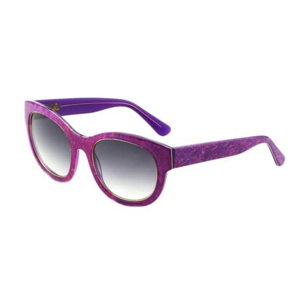 Denim Print Square Frame Sunglasses Fuchsia   Heidi London   Wolf & Badger