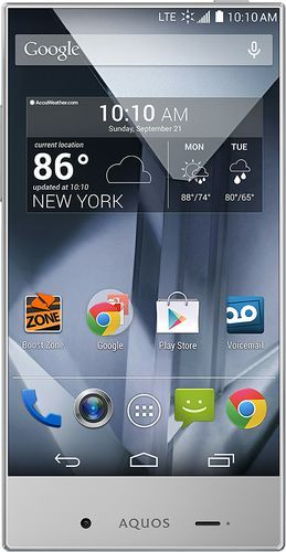 Popular on Best Buy : Boost Mobile - Sharp Aquos Crystal 4G No-Contract Cell Phone - Black