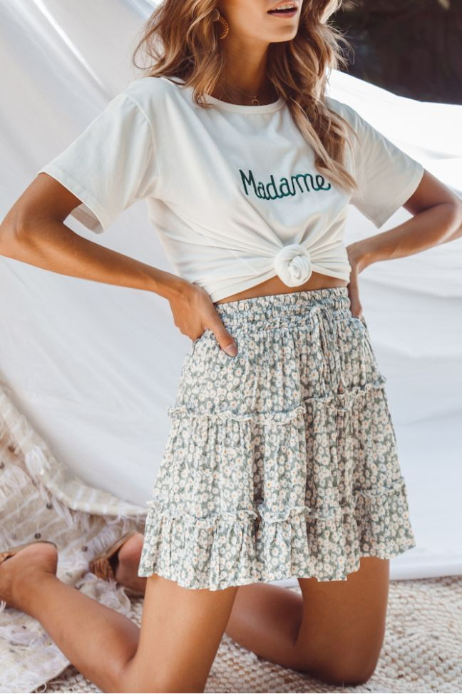 Amazing Begonia Mini Skirt Sage