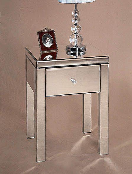 Nattbord i glass MODENA.www.dekorasjondesign.com, din nettbutikk innen desing og dekorasjon (bilde 1)