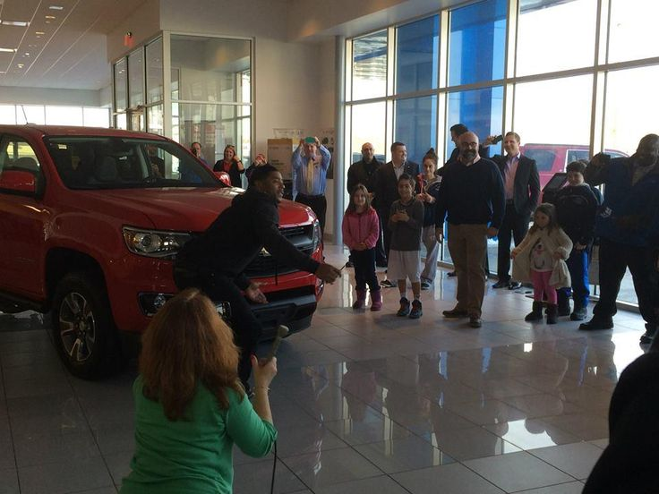 Malcolm Butler Receives Colorado At Massachusetts Chevy Dealership