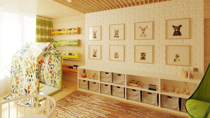 Фотография:  в стиле , Квартира, Проект недели, Зеленый, Желтый, Коричневый…