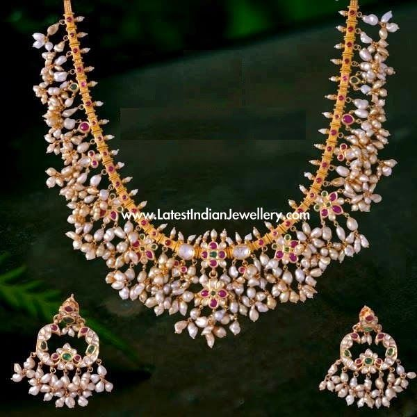 Pearl Gutta Pusalu Gold Necklace