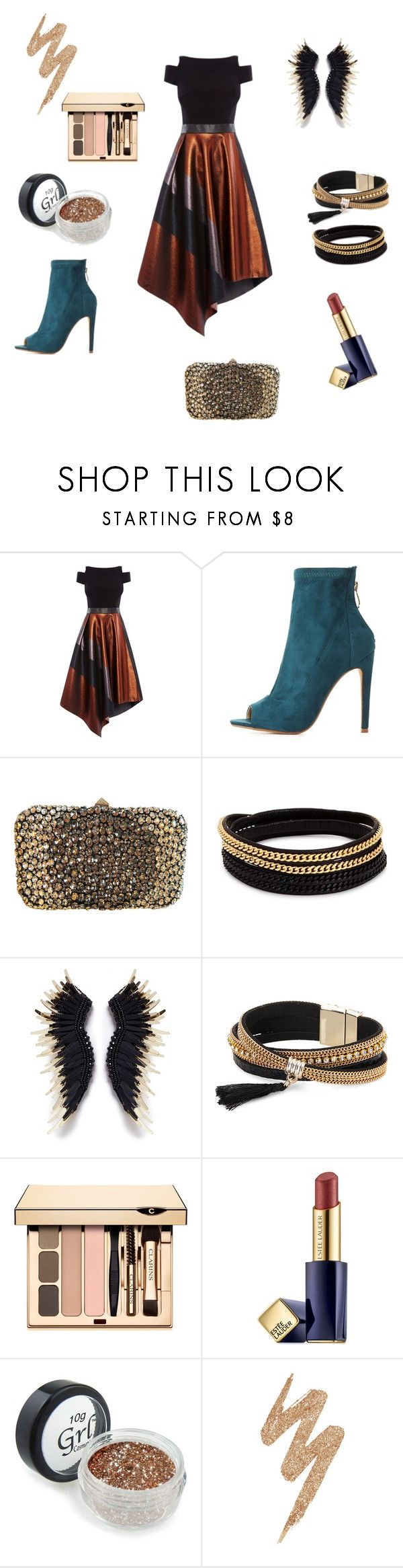 """новогодняя вечеринка"" by nadynfedori ❤ liked on Polyvore featuring Coast, Cape Robbin, Valentino, Vita Fede, Mignonne Gavigan, Simons, Estée Lauder and Urban Decay"