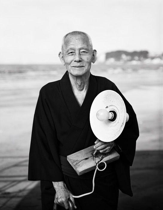 笠智衆 Chishu Ryu, 1991.Photo by Kazumi Kurigami