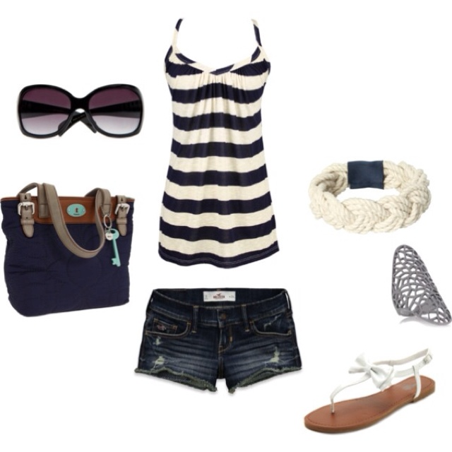 Love this outfit for summer!!: Shoes, Summer Fashion, Fashion Ideas, Summer Looks, Summer Day, Cute Summer Outfit, Shorts, Style Clothing, Summer Clothing