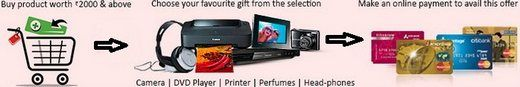 Pepperfry hot offer to get a Free Gift of Choice from range of Rs. 1000 to 4000 when you shop for Rs 2000 or above. The free gift are Camera, DVD Player, Printer, Headphone, Perfumes, and lots more and you're free to select the gift for you without any extra cost. Also available discount coupon of flat Rs.250 discount on Purchase of Rs 750+.