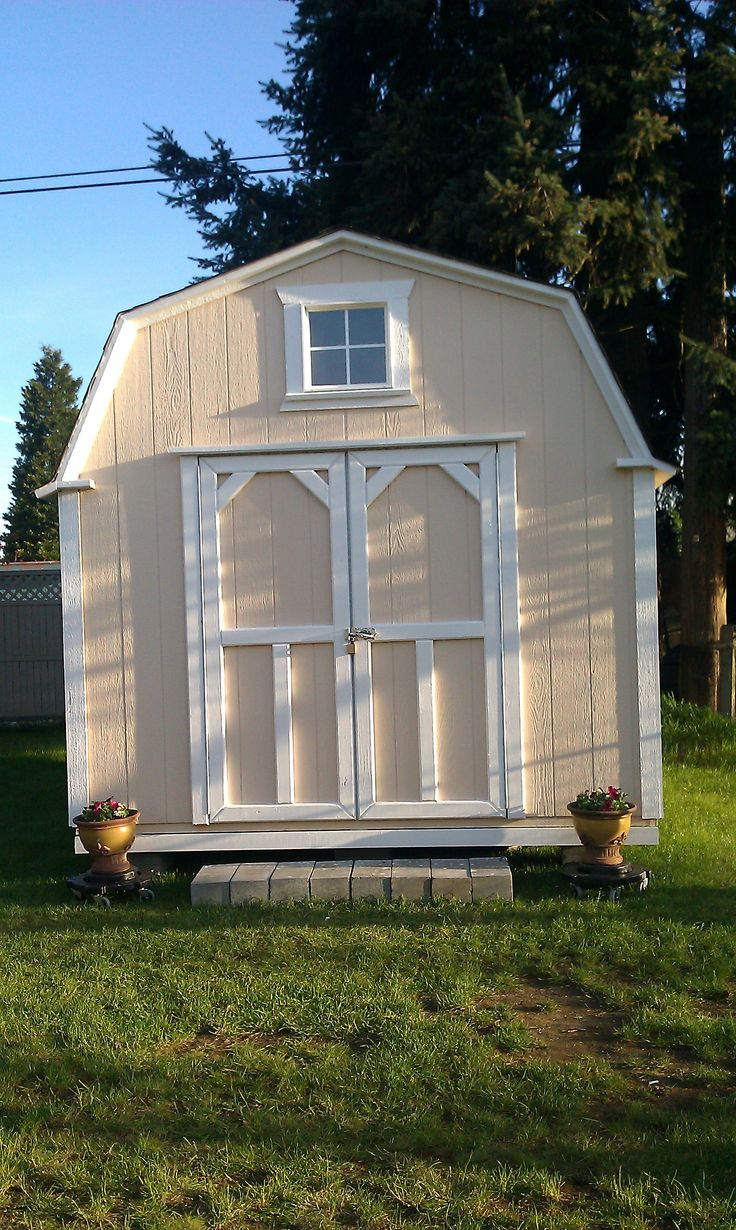 67 best garden sheds images on pinterest potting sheds garden barn style with double door storage garden shed tool shed playhouse