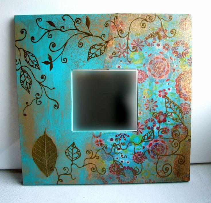 """Mirror """"Elegant Blue """""""