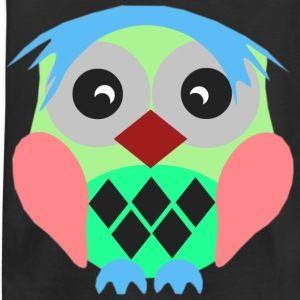 Blue hair owl