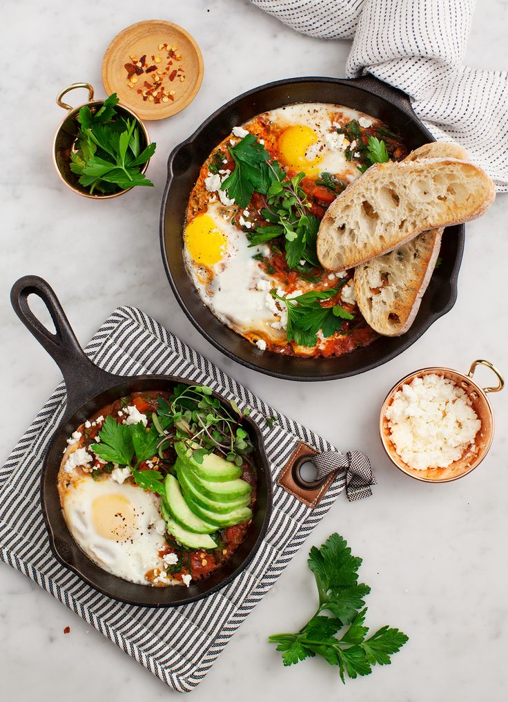 Shakshuka with Spinach and Harissa Recipe - Love and Lemons
