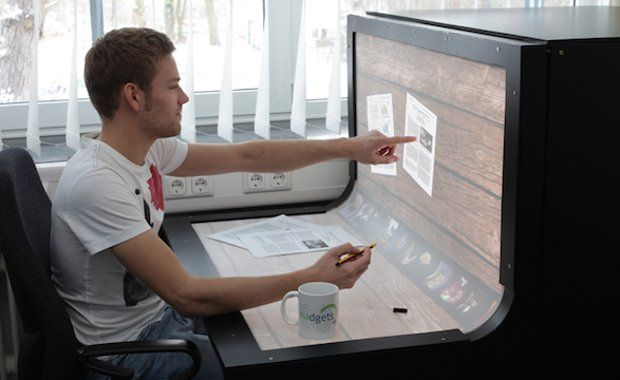 Touchscreen Desk | www.piclectica.com #piclectica