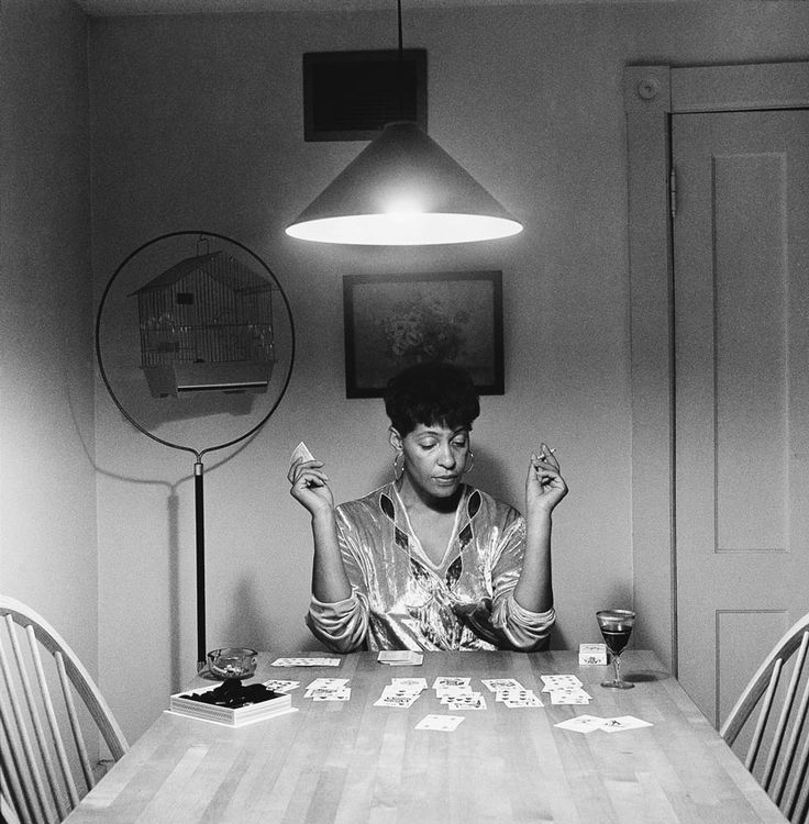 Untitled (Kitchen Table Series) 1990 Carrie Mae Weems American, born 1953 Three gelatin silver prints with text panels, edition of 5 Each 27 1/4 x 27 inches