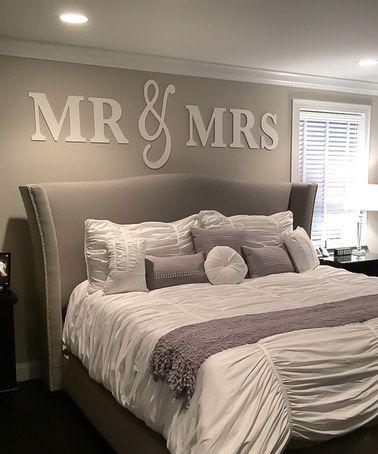 Another great find on #zulily! White 'Mr & Mrs' Wall Art #zulilyfinds