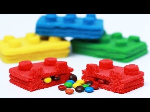 Watch this cool video to see how to make LEGO themed piñata cookies! Super fun!
