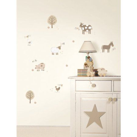 Fun4Walls Farm Wall Stickers, Neutral, Beige