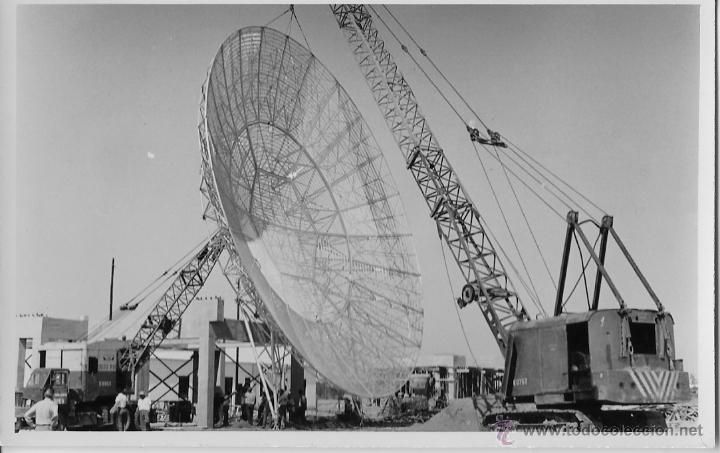SEVILLA,1957,AEROPUERTO DE SAN PABLO, MONTAJE DE ANTENA, RARISIMA,138X88MM - Foto 1