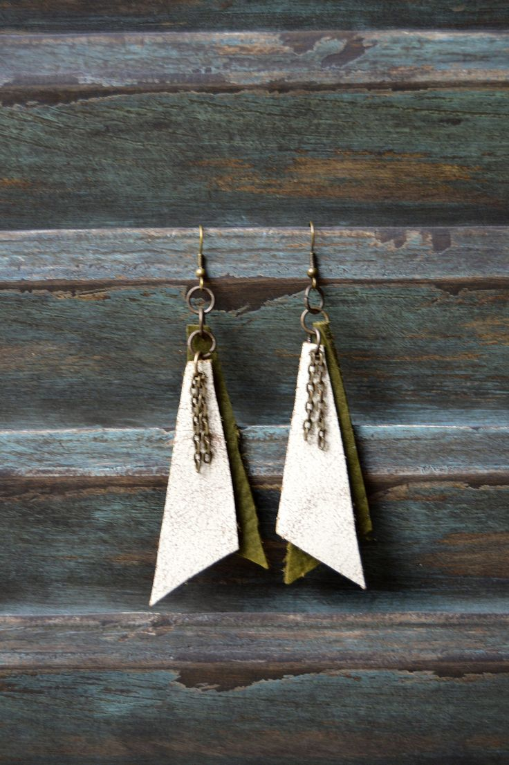 Handmade Leather Earrings from Thailand #146 · Purchase Effect · Online Store Powered by Storenvy