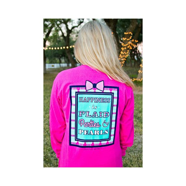 Happiness Is Plaid... Long Sleeve - THE LUCKY KNOT ($38) via Polyvore