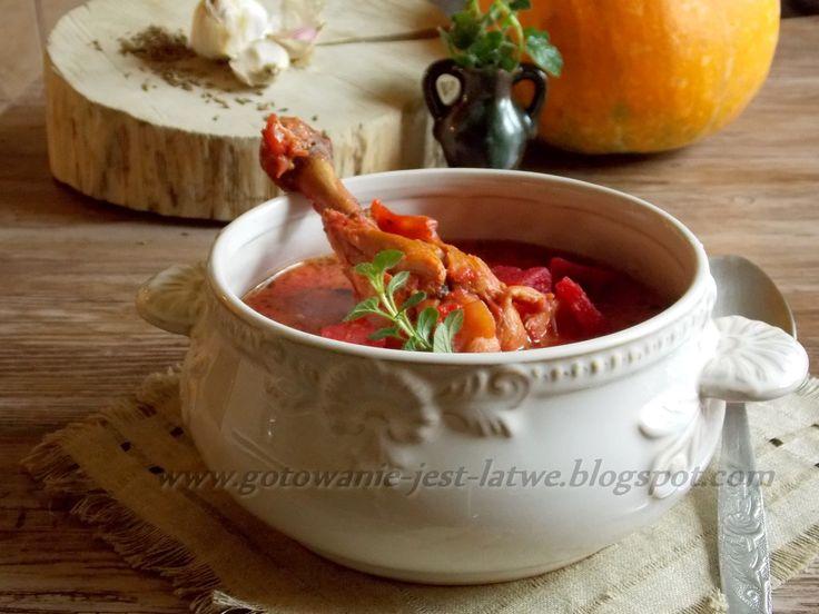 Gotowanie jest łatwe: Zupa buraczkowo dyniowa na udku