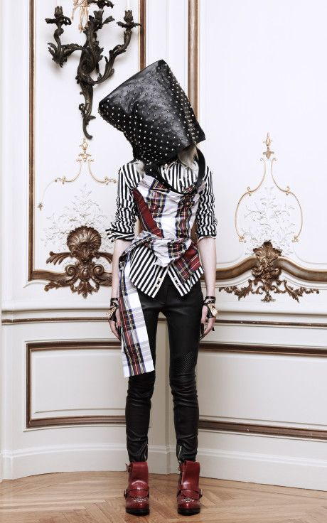 Dual-Tartan Corset With Train by Vivienne Westwood Now Available on Moda Operandi