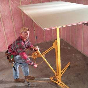 How to Hang Drywall: Use a Lift....I invested in one of these, and it is one of the best investments I've ever made!