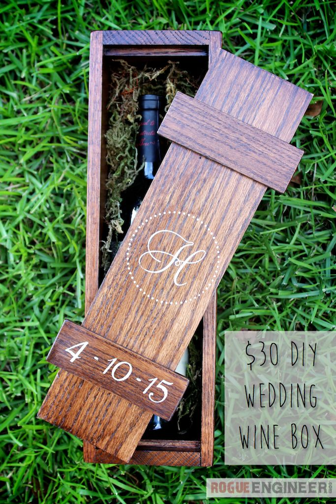 Create a DIY wine box for under $30! This would make a perfect wedding gift!