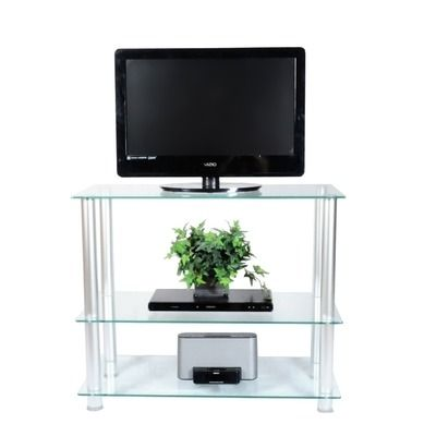 might be another good TV Stand might do well in the bedroom.. Tall enough to see TV from bed but thin enough to have walking space in between