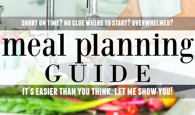Nutritionist in the Kitch Meal Planning Guide